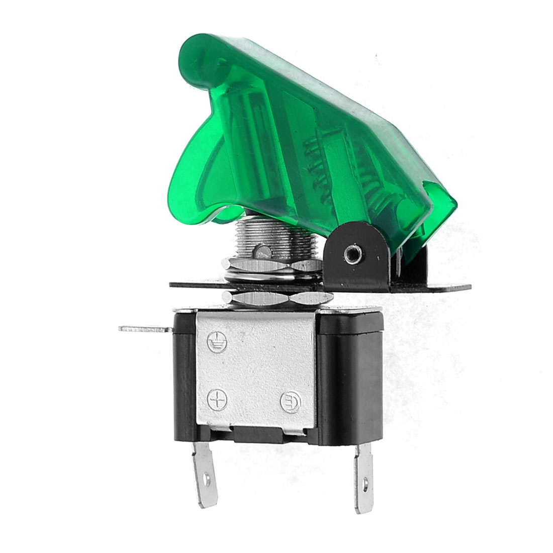 DC 12V 20A Green LED Illuminated SPST Racing Car Toggle Switch Control ON/OFF