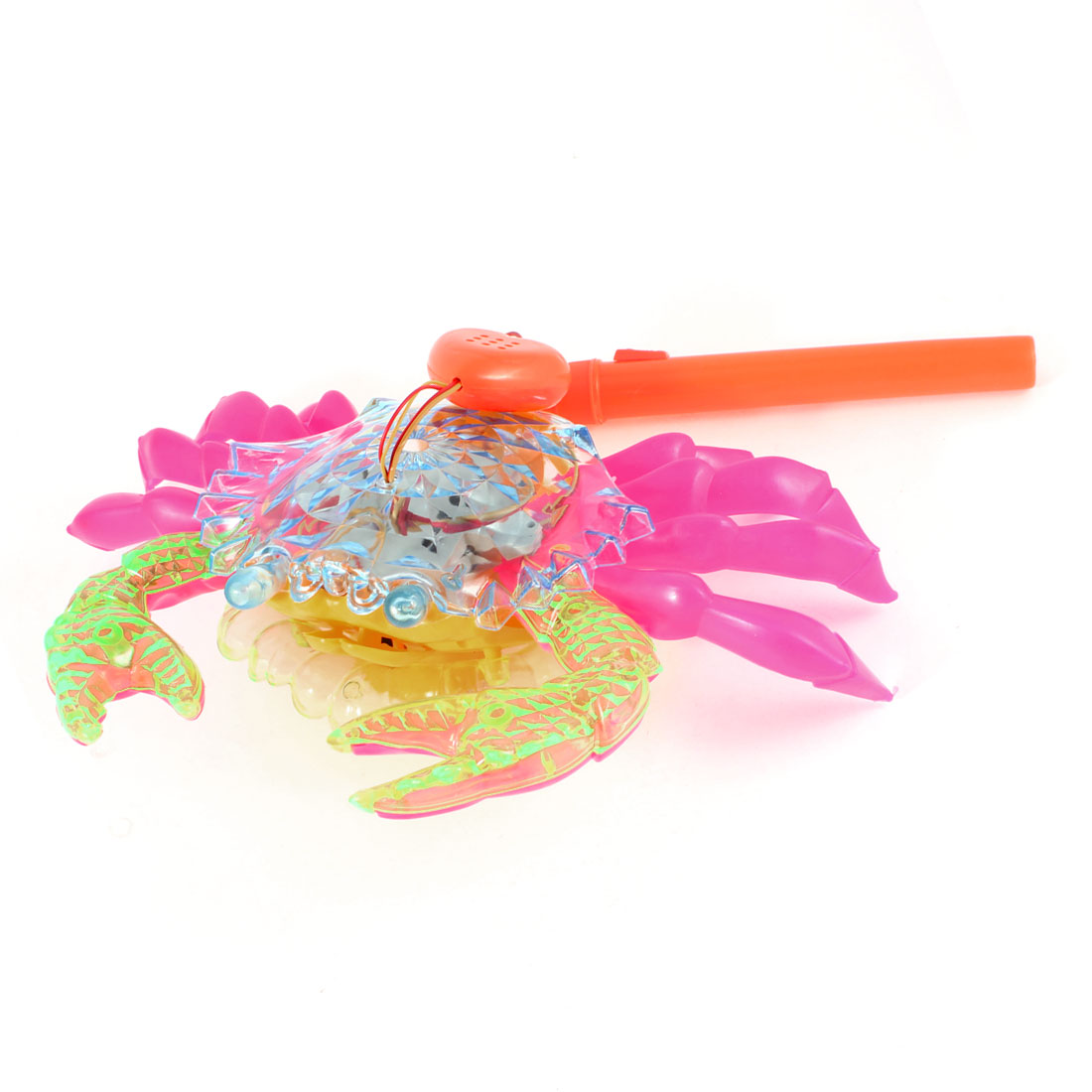 Flashlight Sound Moving Electric Colorful Plastic Crab Toy