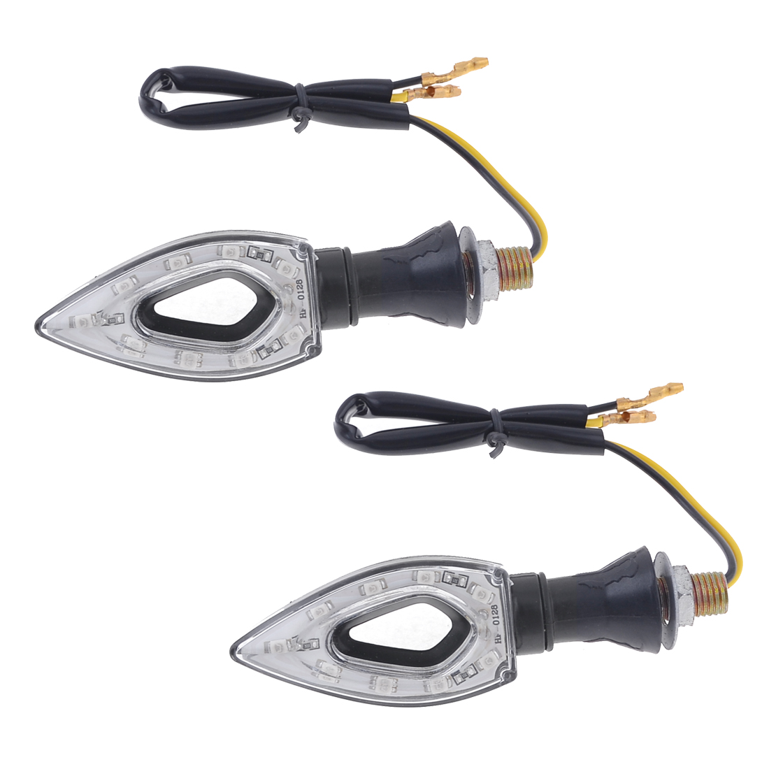 2PCS Motorcycle Red 9 1210 3528 SMD LED Turn Signal Light Side Indicator Lamps