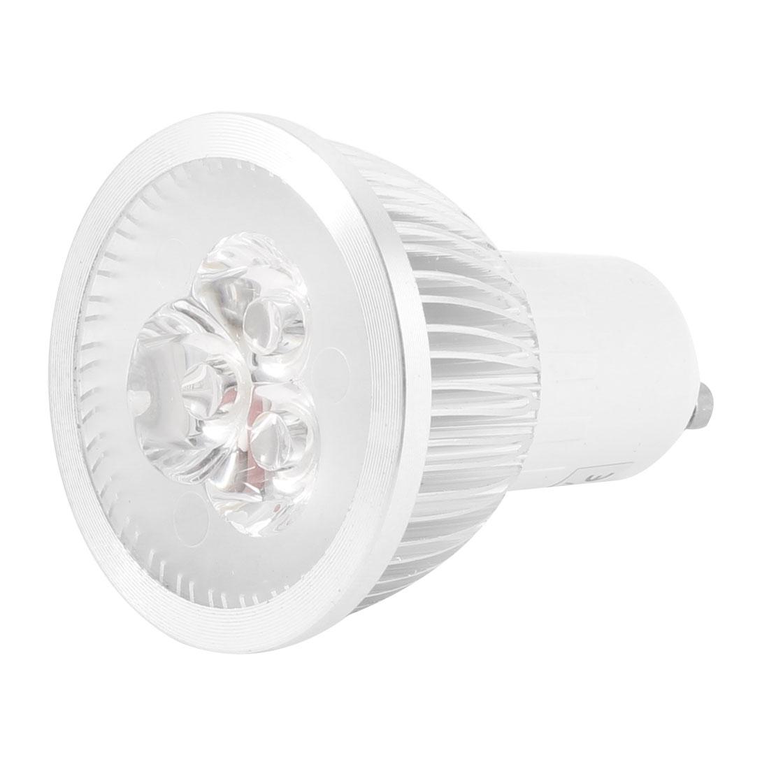 110-240V 3W 3 LEDs Warm White Light Energy Saving GU10 Spotlight Bulb