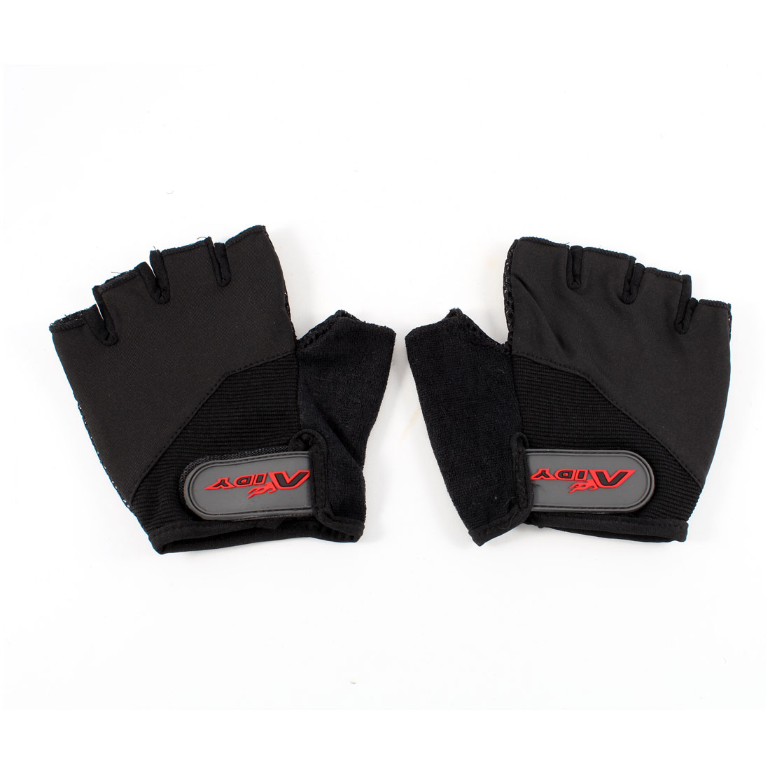 Pair Kids Outdoors Black Fingerless Skidproof Racing Bicyle Gloves