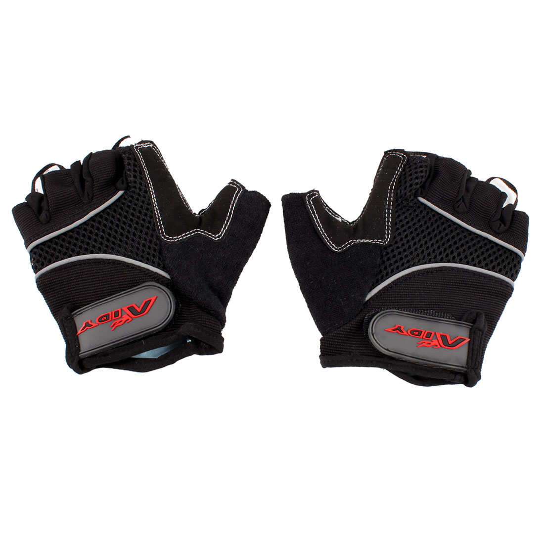 Pair Black Half Finger Skidproof Breathable Sports Cycling Gloves Size S