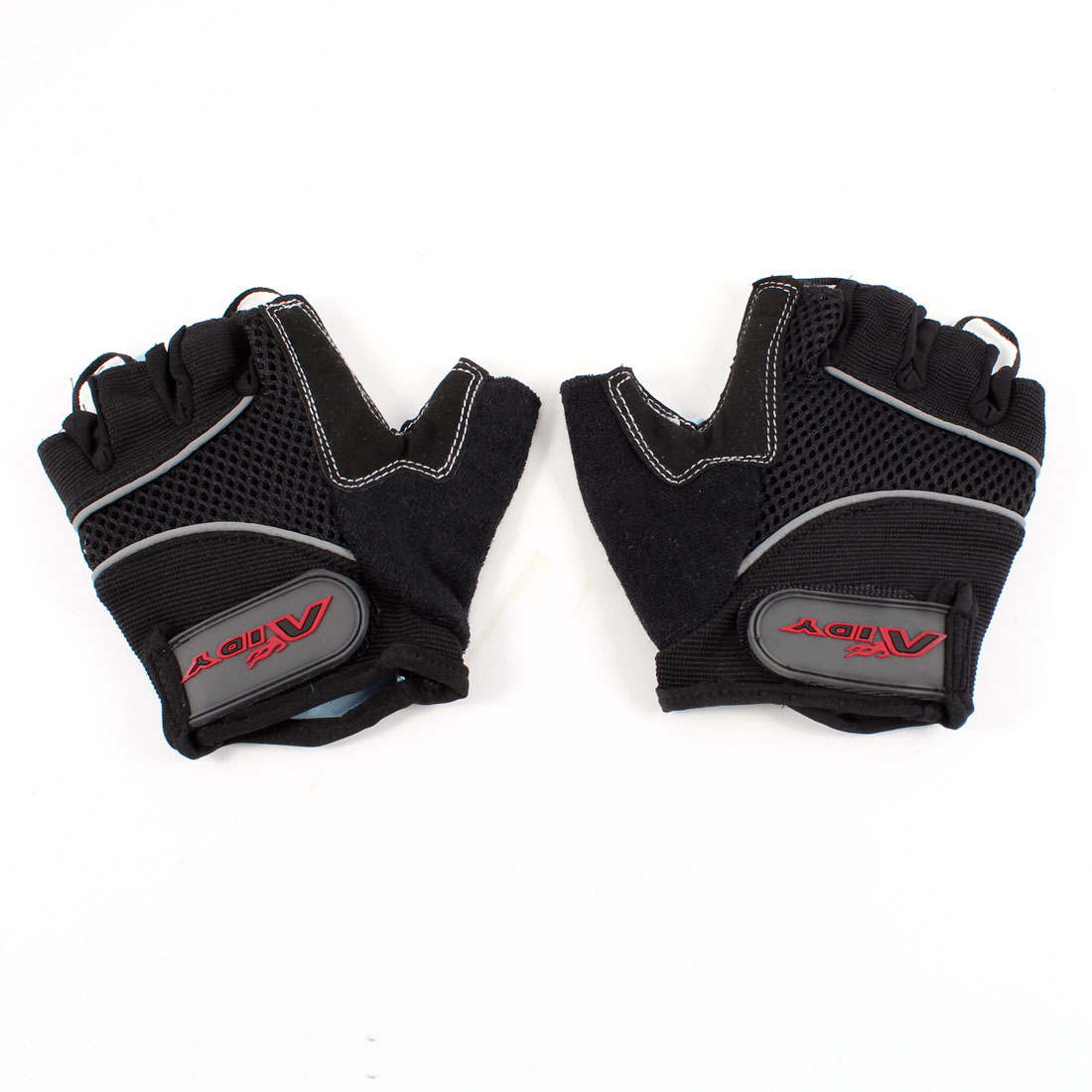 Pair Black Half Finger Skidproof Breathable Sports Racing Gloves