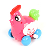 Multicolored Plastic Cartoon Chicken Wind up Play Fun Toy for Child