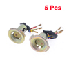 5 Pieces 3 Wired Motorcycle Motorbike Light Lamp Socket Bronze Tone