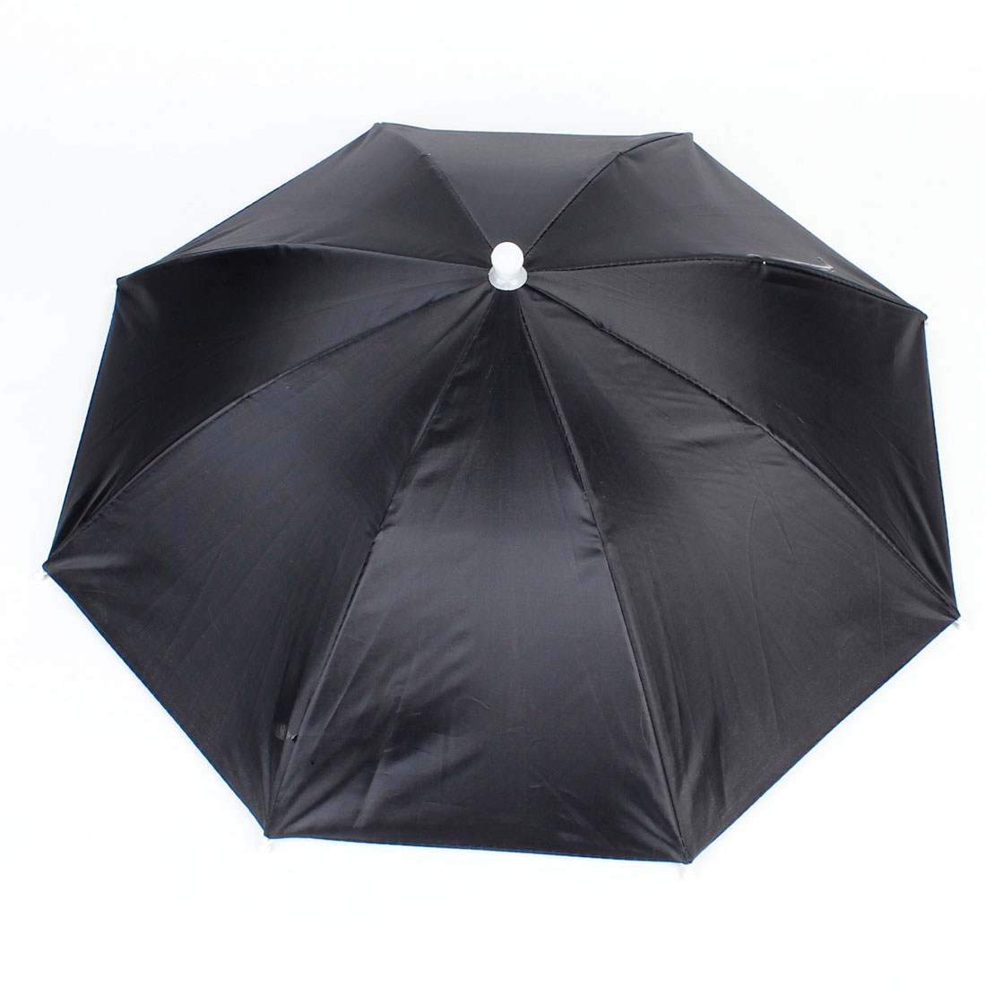 Outdoor Headwear Black Polyester Canopy Umbrella Hat for Fishing
