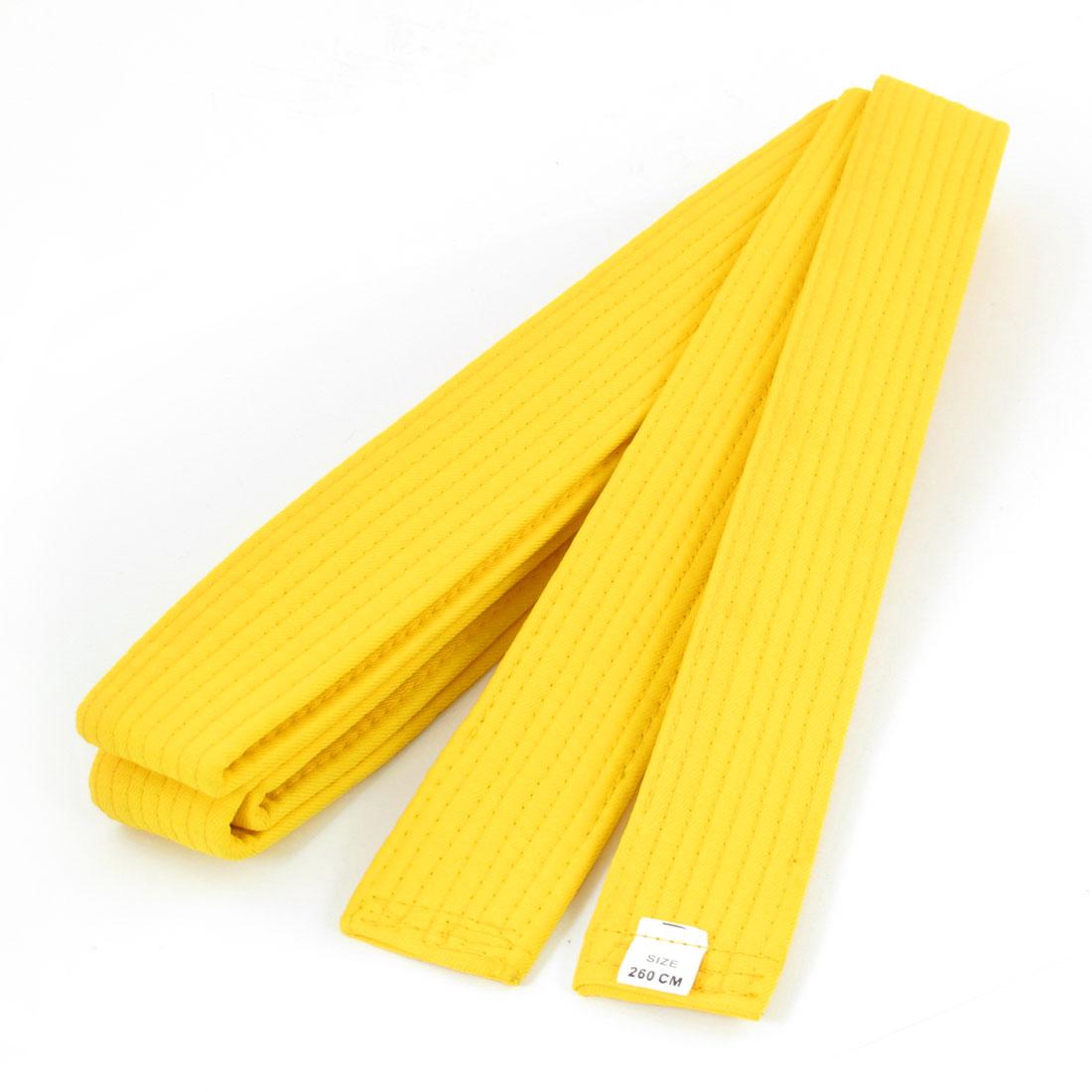 Karate TaeKwonDo Judo Yellow Flexible Belt 255cm Long