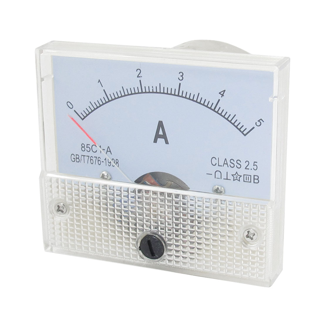 Rectangle Shaped Class 2.5 Accuracy AC/DC Amplifier Ammeter Meter Panel 0-5A