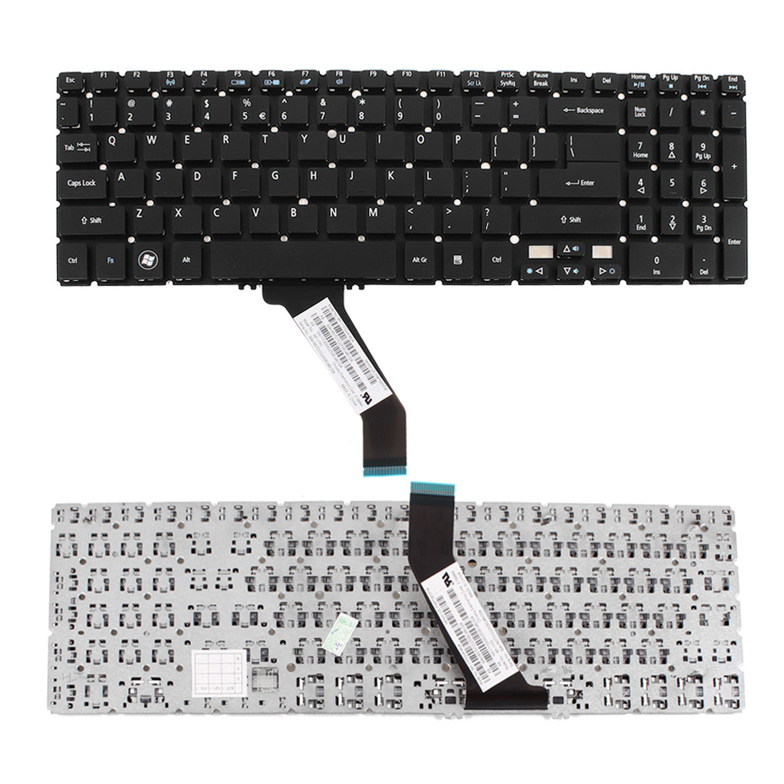 English Letters Black Notebook Keyboard for Acer Aspire V5-571 Series