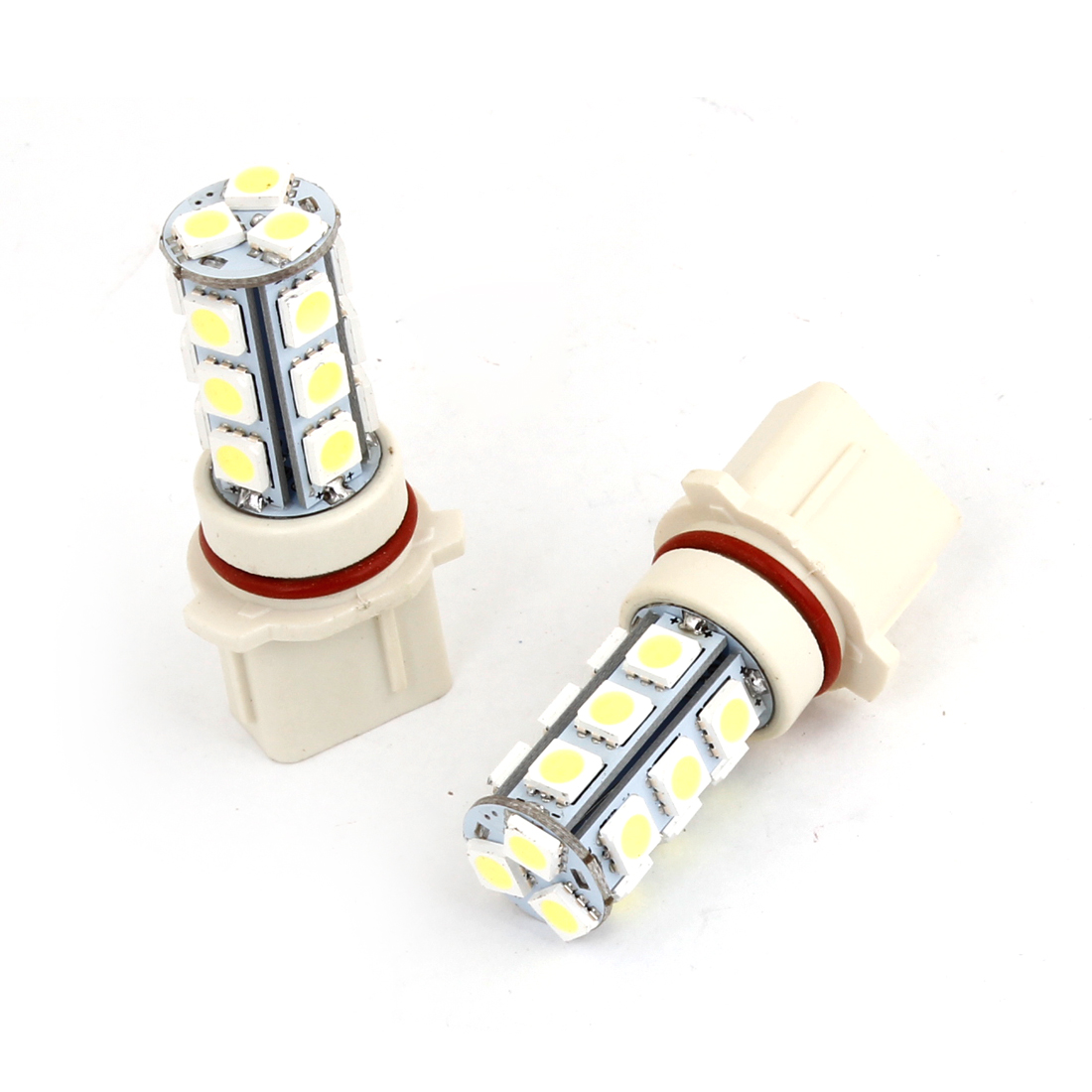 2 Pcs Car Auto P13W Bayonet 5050 SMD 18 LED White Fog Head Light Bulb Lamp DC 12V