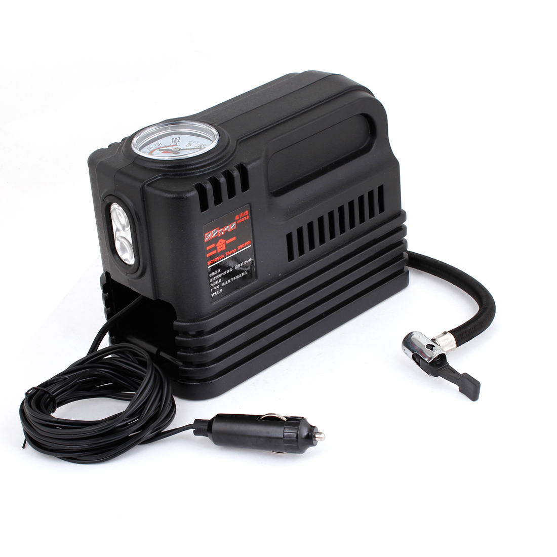 Portable Pump Car Auto 12V Electric Air Compressor w Tire Inflator