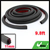 Car Vehicle Hollow Door Sealed Strip Sticker Black 300cm Length
