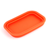 Auto Car Retangle Shape Phone Sunglasses Silicone Foldable Storage Box Orange