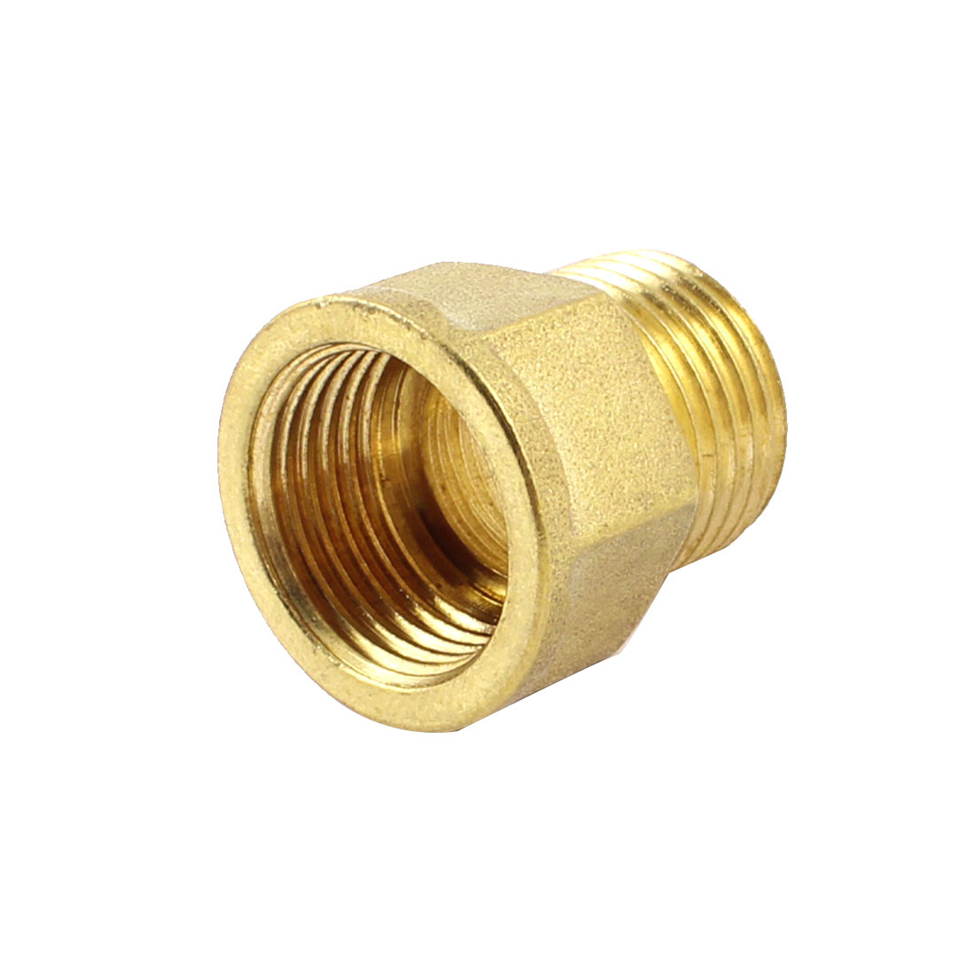 "1/2"" NPT Female to 1/2"" PT Male Hex Thread Bushing Piping Connector Adapter"