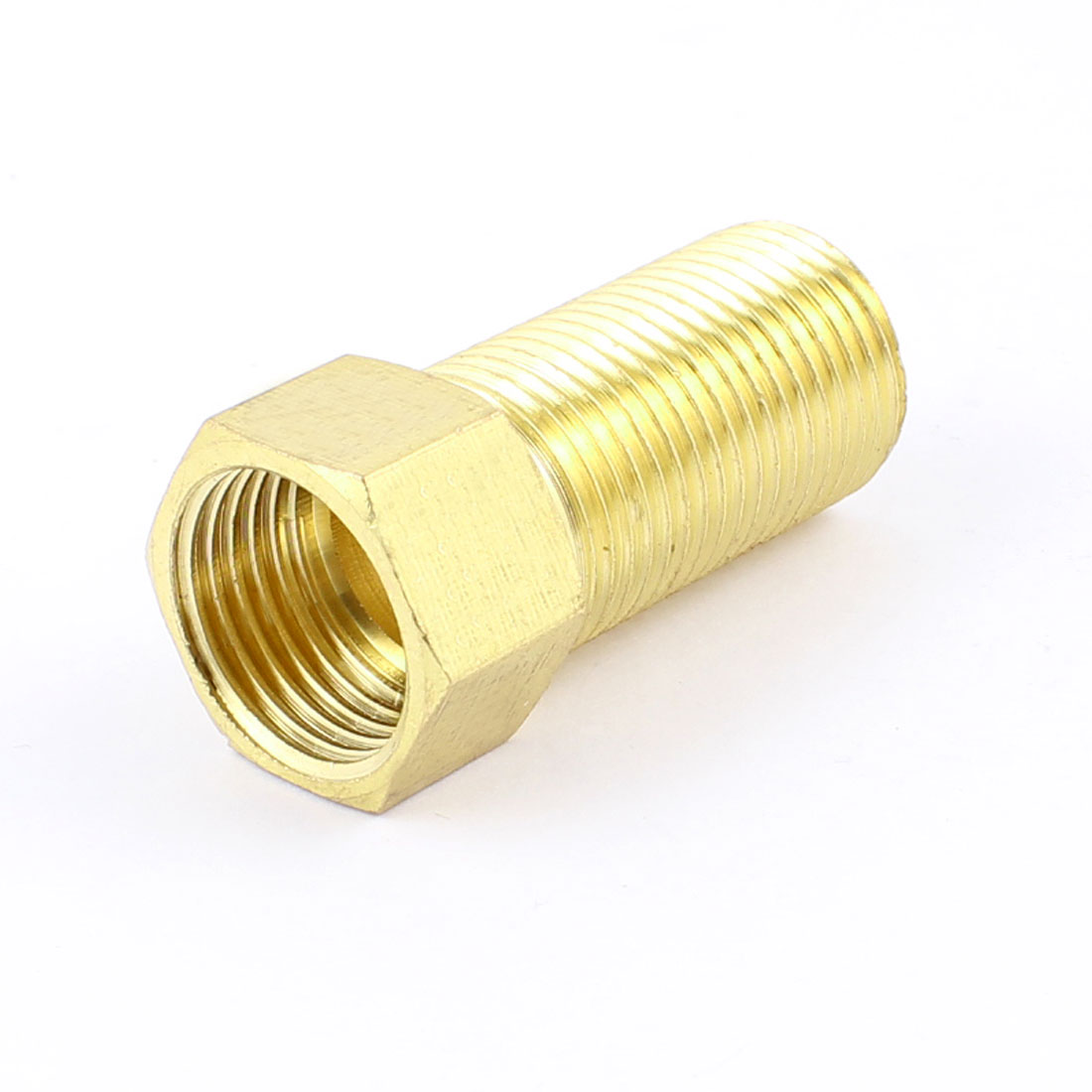 "Brass 1/2"" PT Male/Female Thread Hex Bushing Pneumatic Piping Quick Coupler"