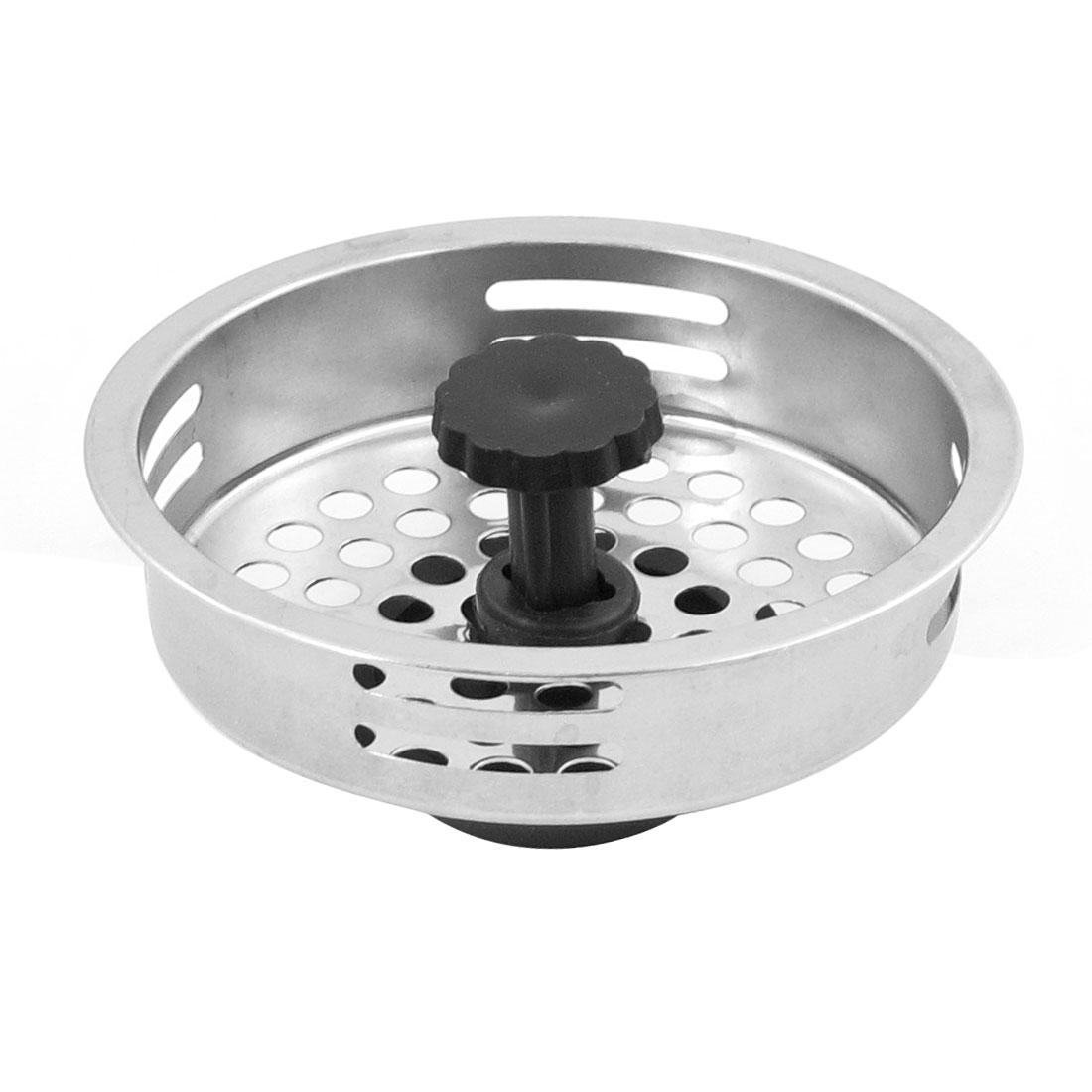 Kitchen Bathroom Mesh Hole Stainless Steel Strainer Sink Basin Filter Drain