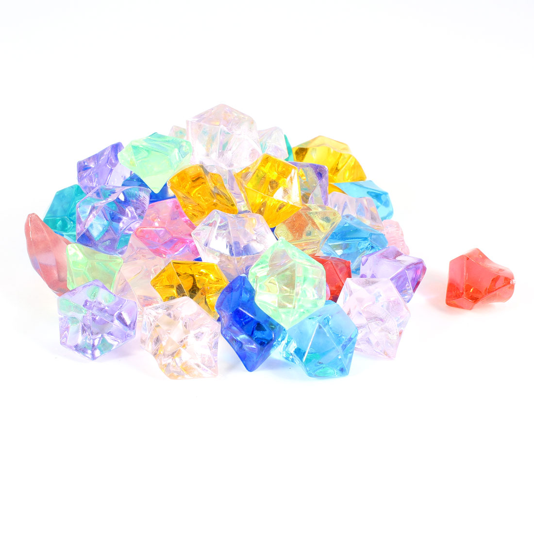 50pcs Plastic Crystal Stones Ornament Coloful for Fish Tank