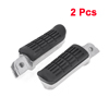 2 Pcs Black Rubber Wearproof Footboard Motorcycle Pedal for Honda CB400