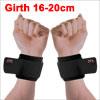 2 Pcs Black Hook Loop Fastener Adjustable Wrap Around Wrist Support Protector Brace