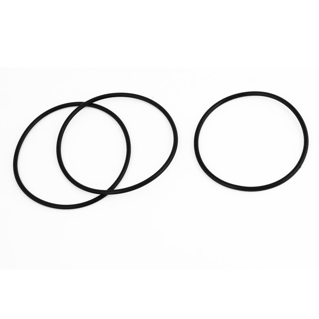 "3 Pcs Replacement 2.6"" External Dia Industrial Rubber O Rings Seals Black"