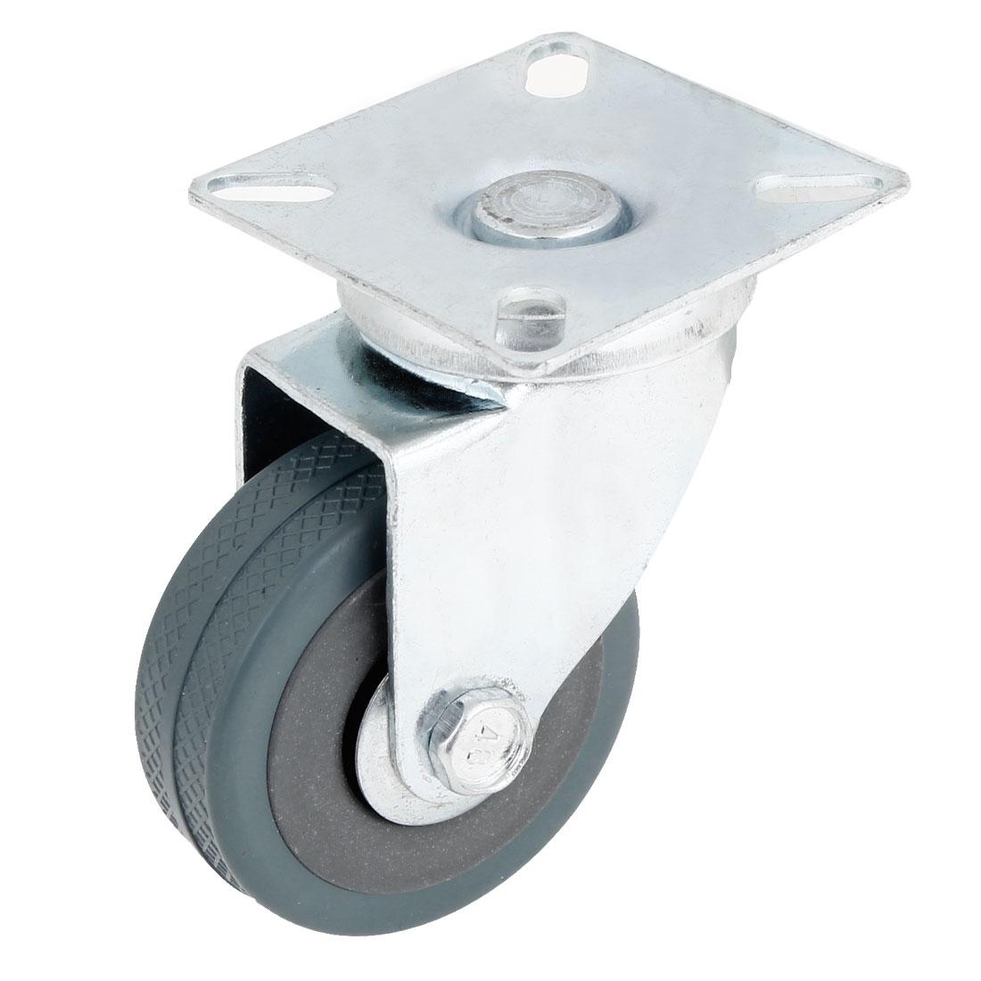 "2"" Diameter Metal Rotatable Flat Plate Plastic Single Wheel Caster"