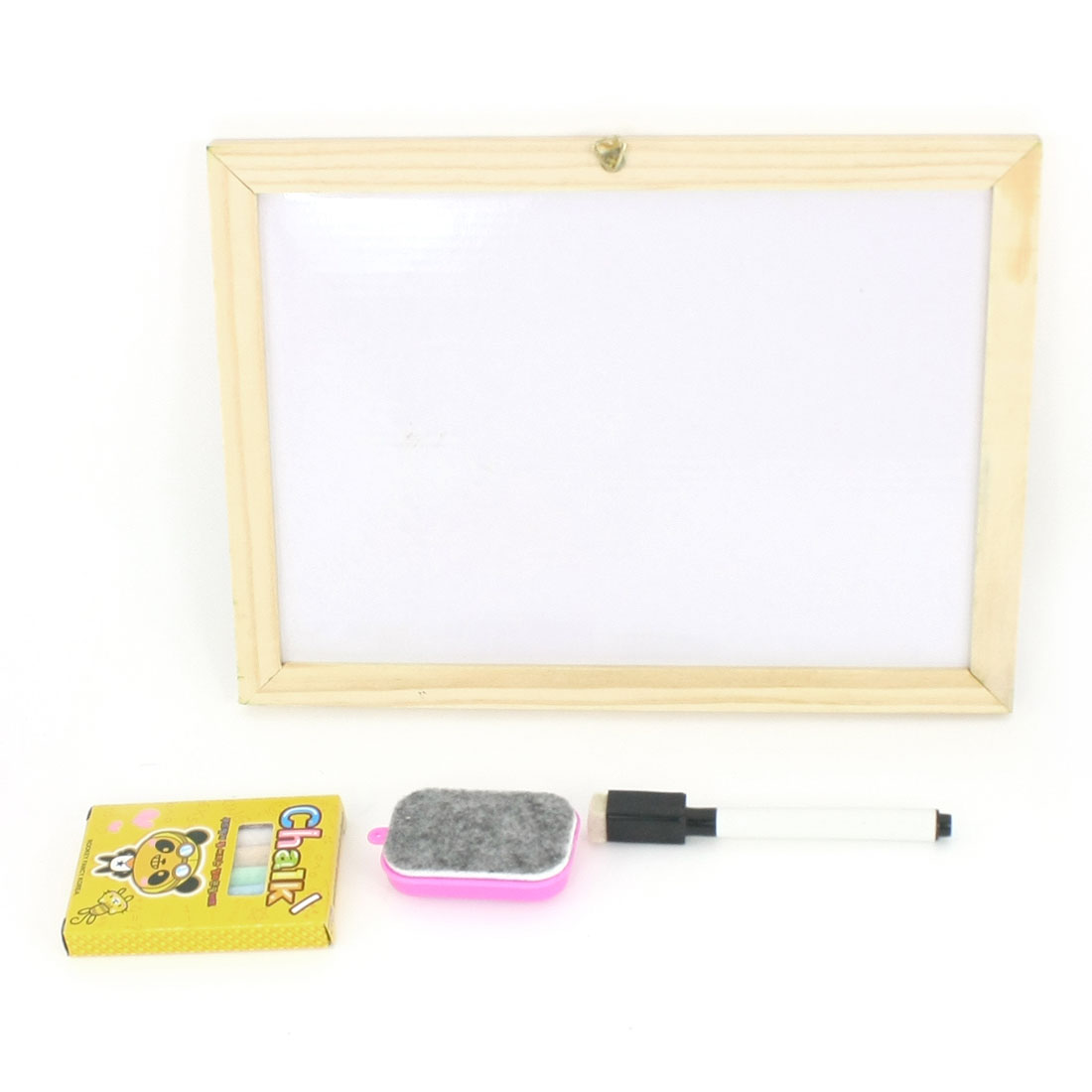 Rectangle Wooden Frame Children Learning Drawing Magnet Writing Board