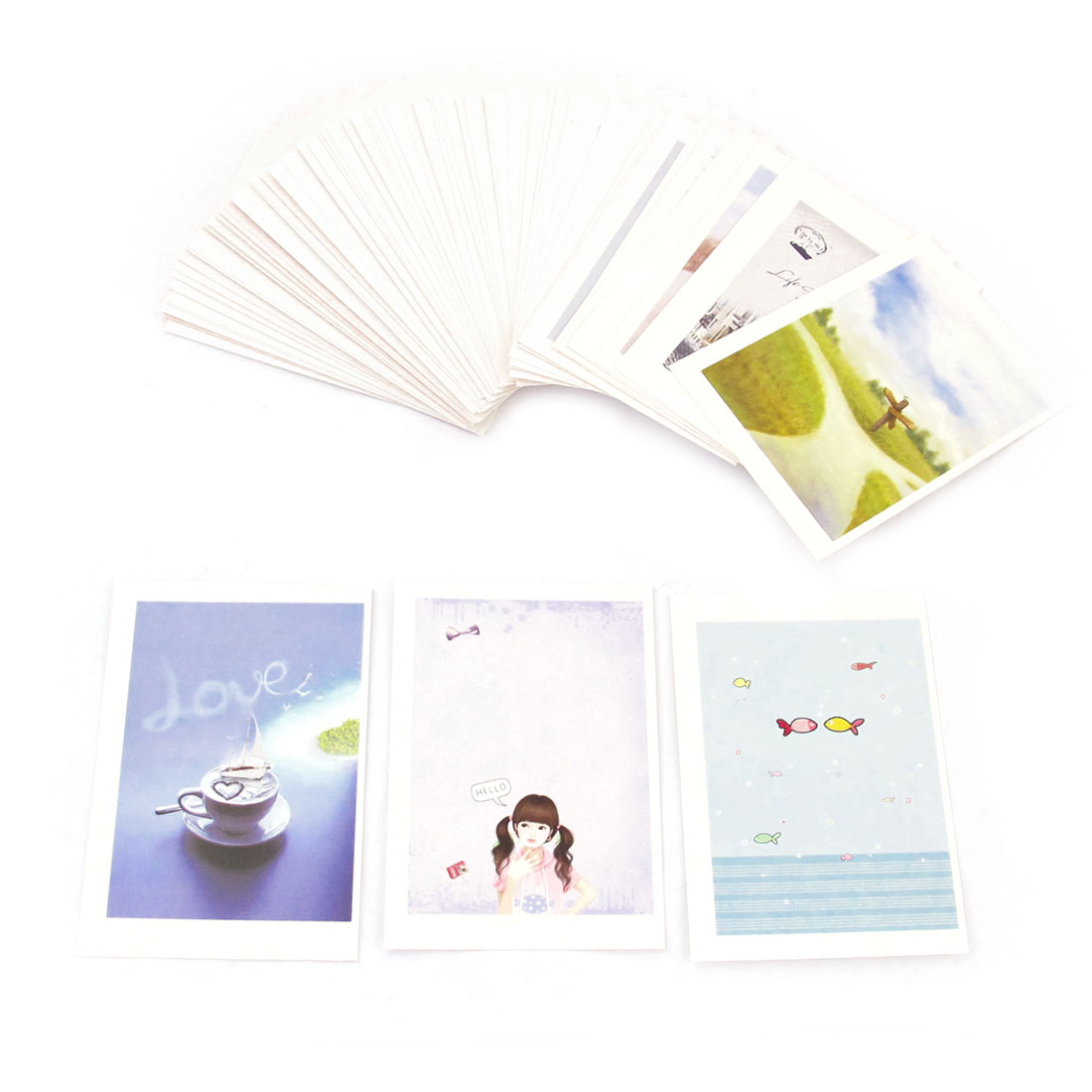 Office Work Memo Postcard Design Sticky Note Cards 72 Sheets