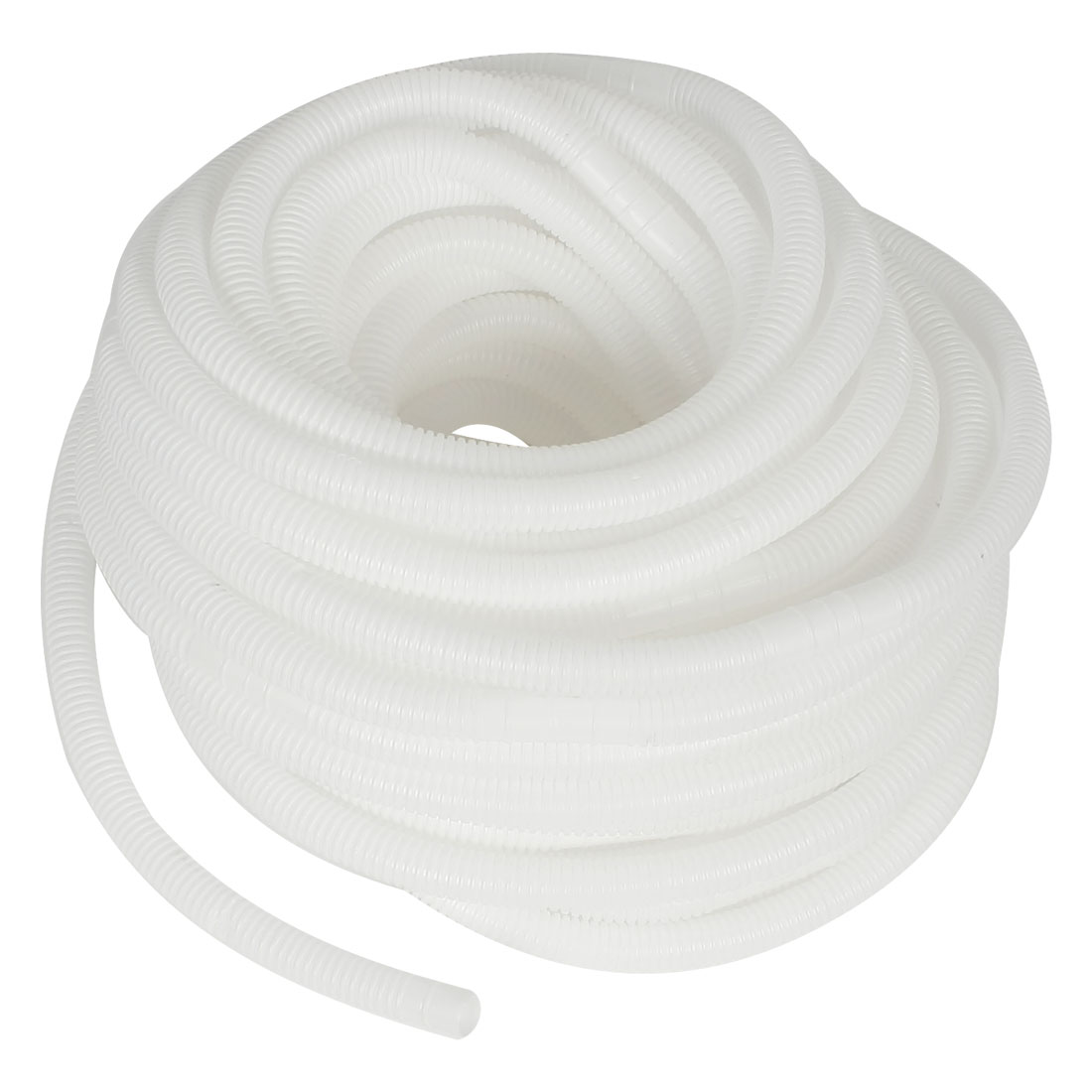 82Ft 25M Wave Type Flexible White Plastic Drain Hose Pipe Tube for Faucet