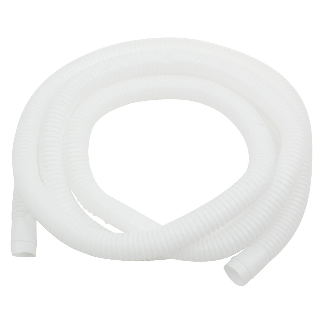 2Meter Long 16mm x 17mm White Plastic Drain Hose Pipe for Air Conditioner