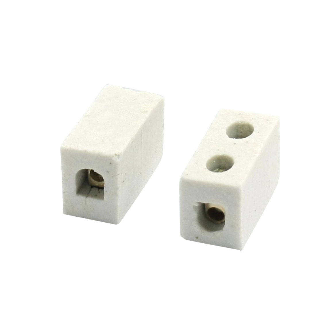 2 Pcs 1W2H High Temperature Porcelain Ceramic Terminal Block 5A 110-600V