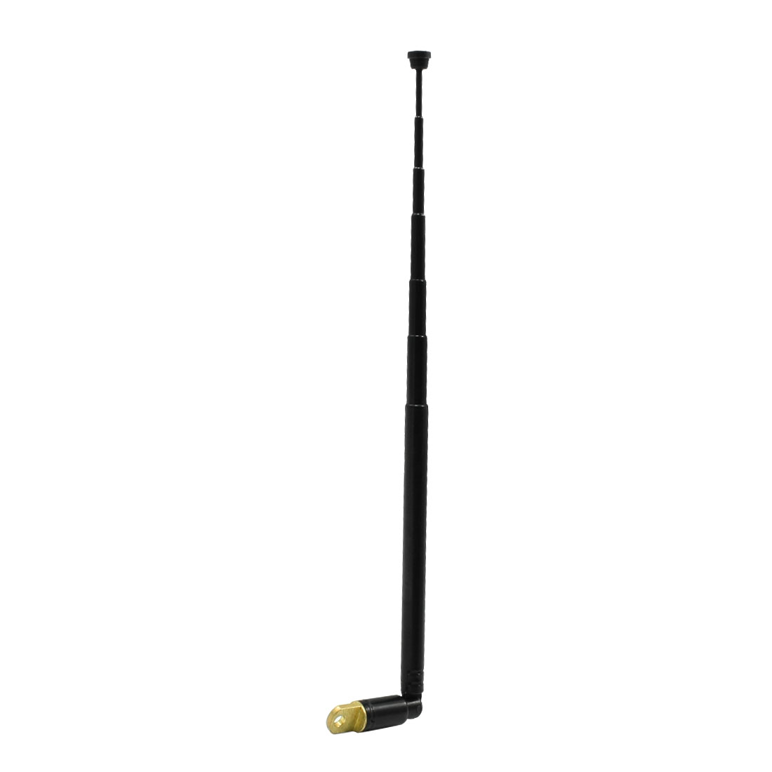 Rotating 6 Sections TV Telescopic Antenna Aerial 38cm for Car