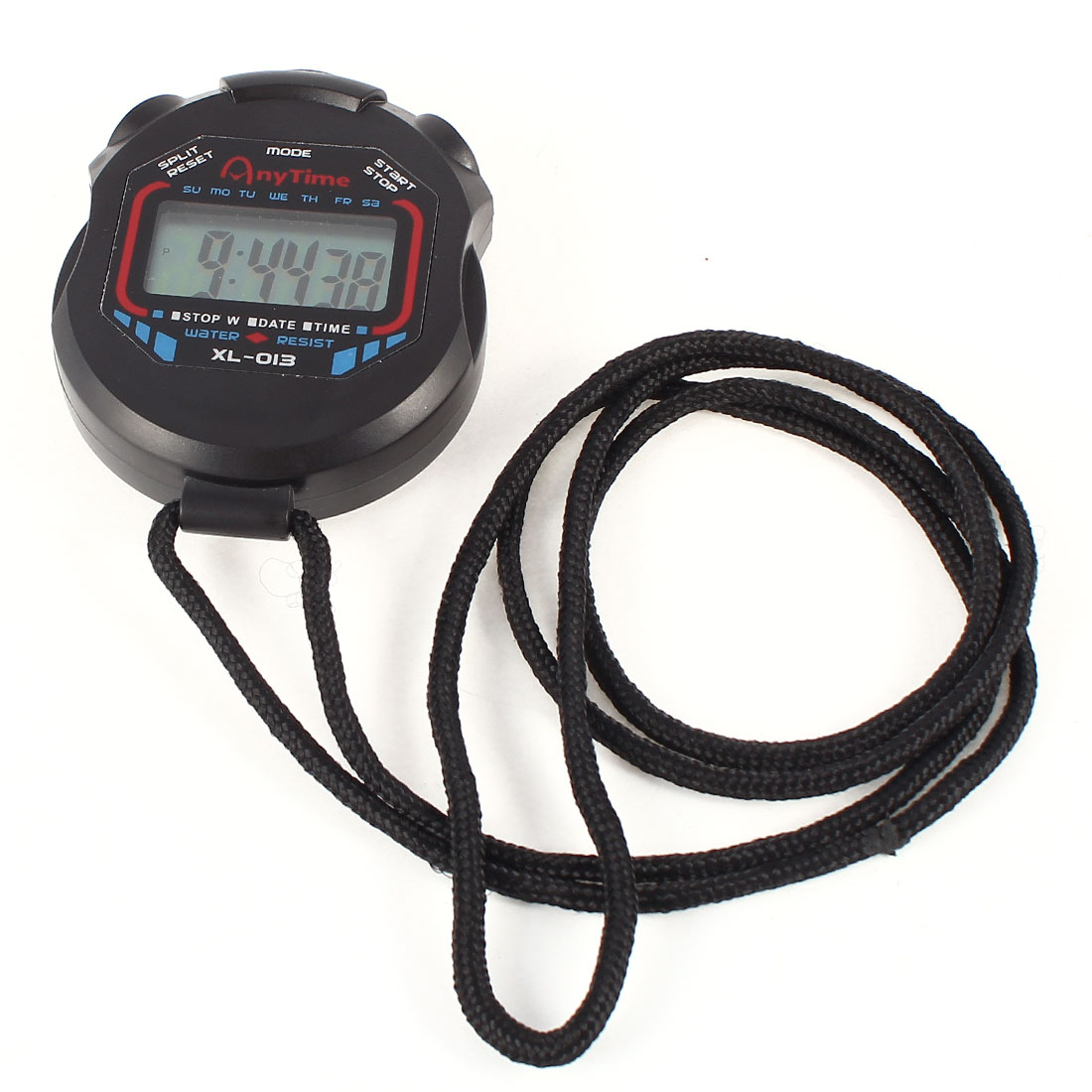 "23"" Long Strap Battery Power Black Sports Training Match Timing Stopwatch"