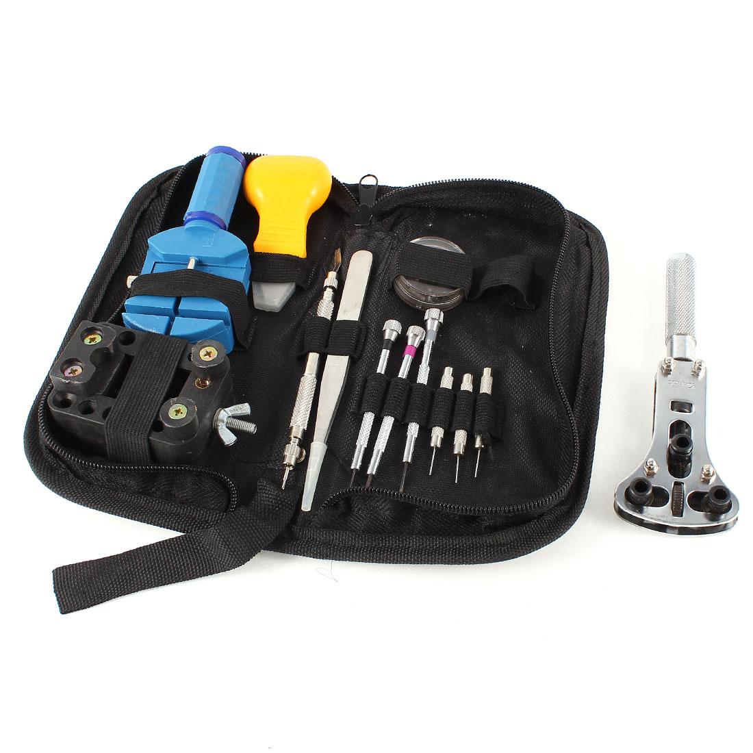 Watch Jewelry Repair Case Opener Screwdriver Tweezers Tools 13 in 1