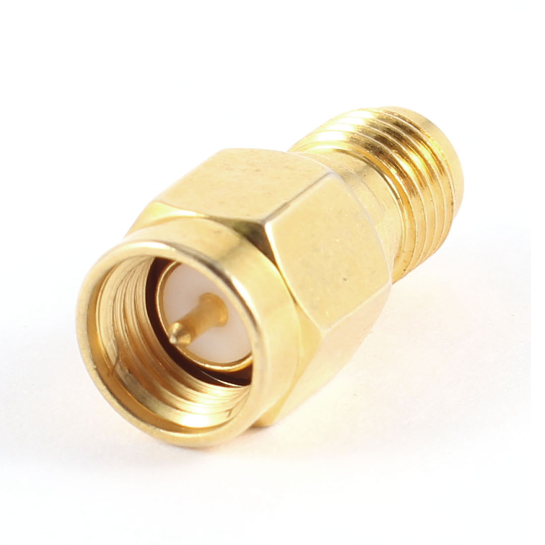 Antenna Connected Equipment RP-SMA Female to Male Connector Gold Tone