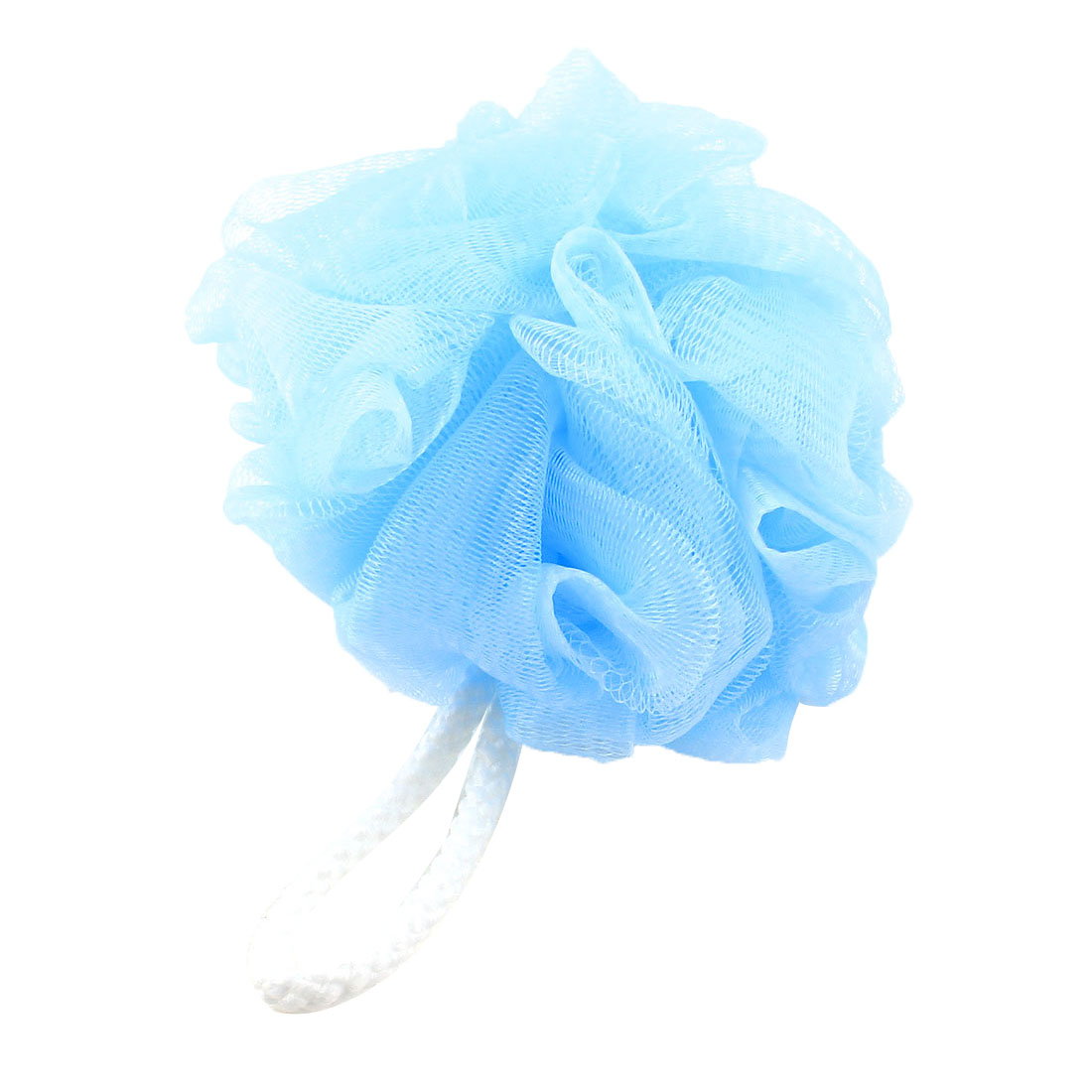 2 Pcs Sky Blue Body Washing Scrubber Ball Shaped Bath Shower Pouf