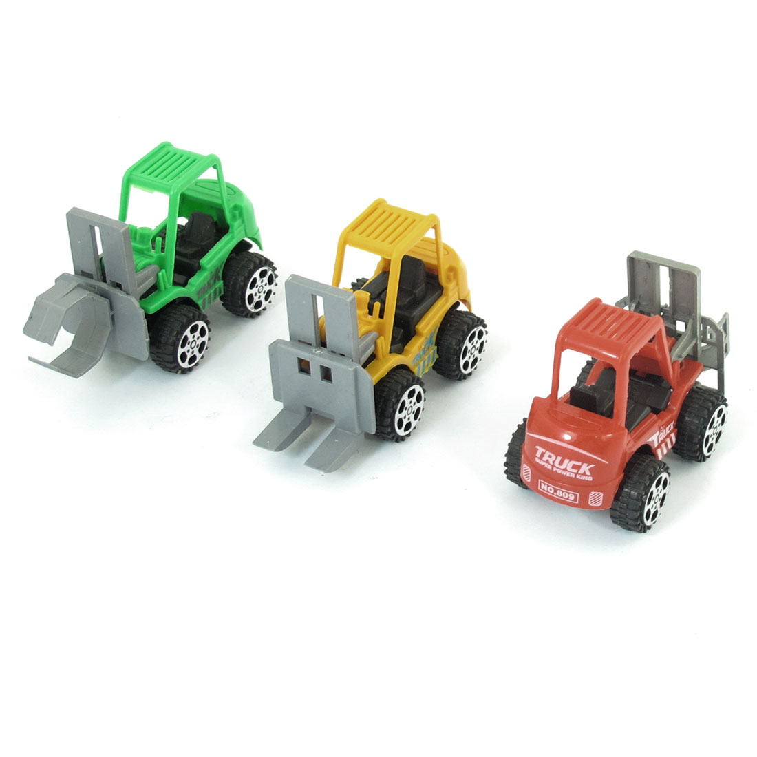 3 Pcs Assorted Color Plastic Construction Shovelcar Truck Toy for Children