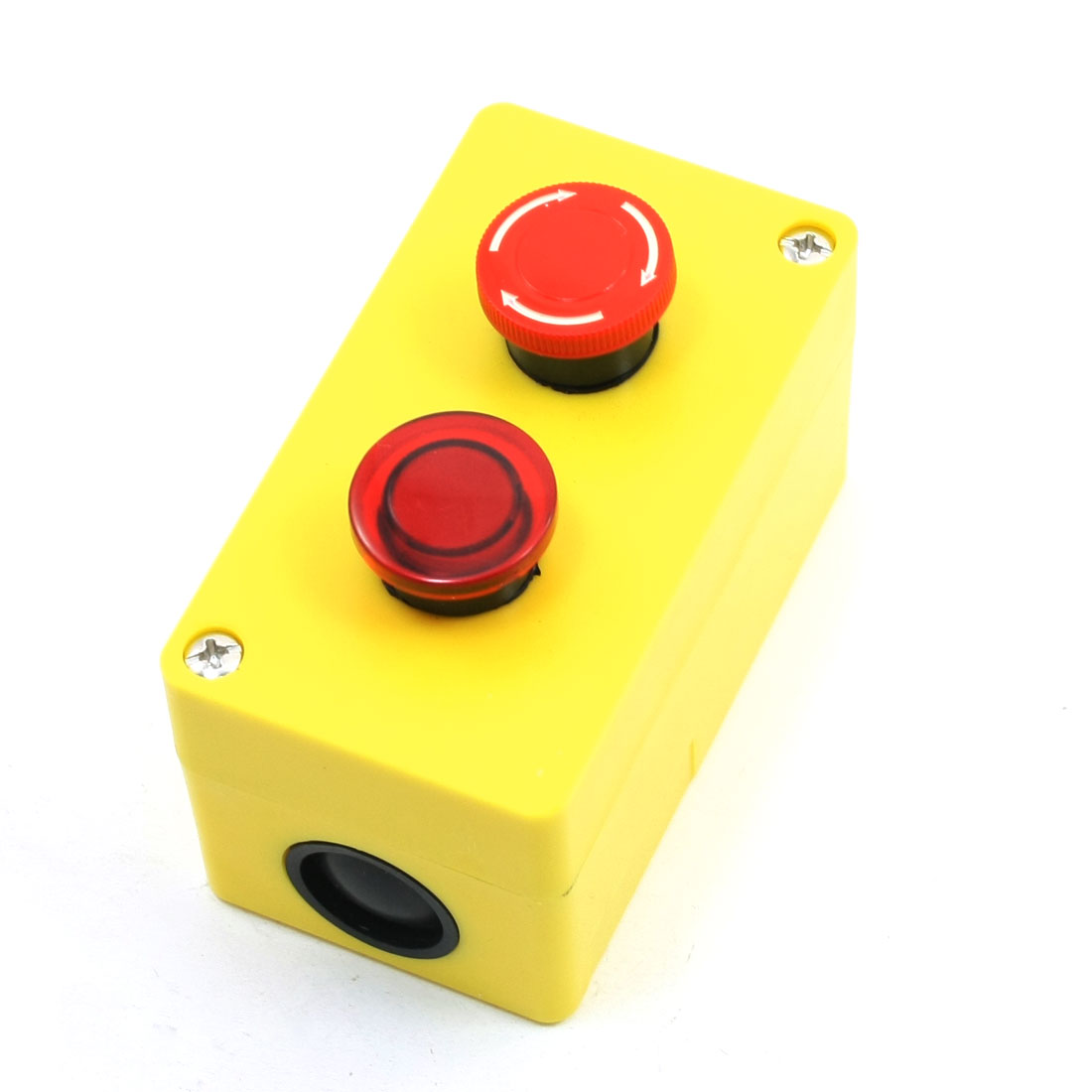 5A 250VAC Emergency Stop Switch Momentary Mushroom Head Push Button Station