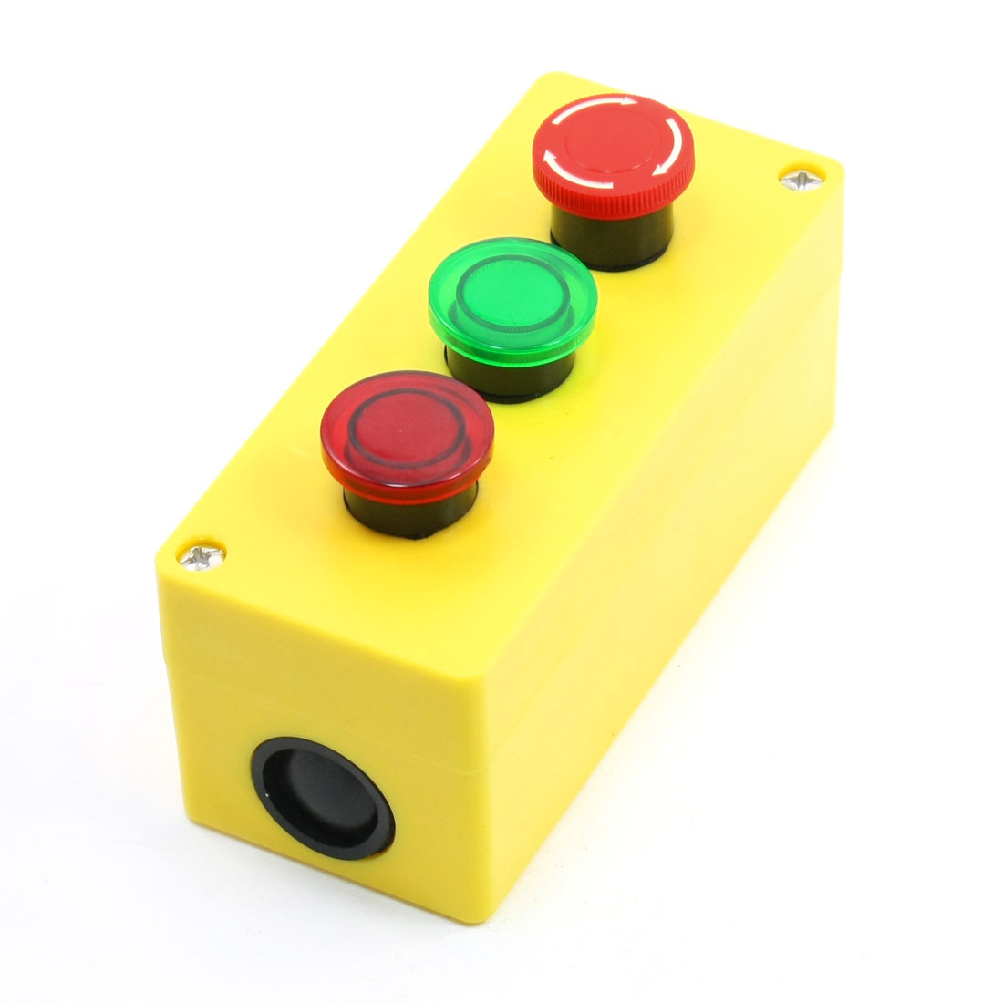 5A 250VAC Latching Emergency Stop Momentary Red Green Button Control Station