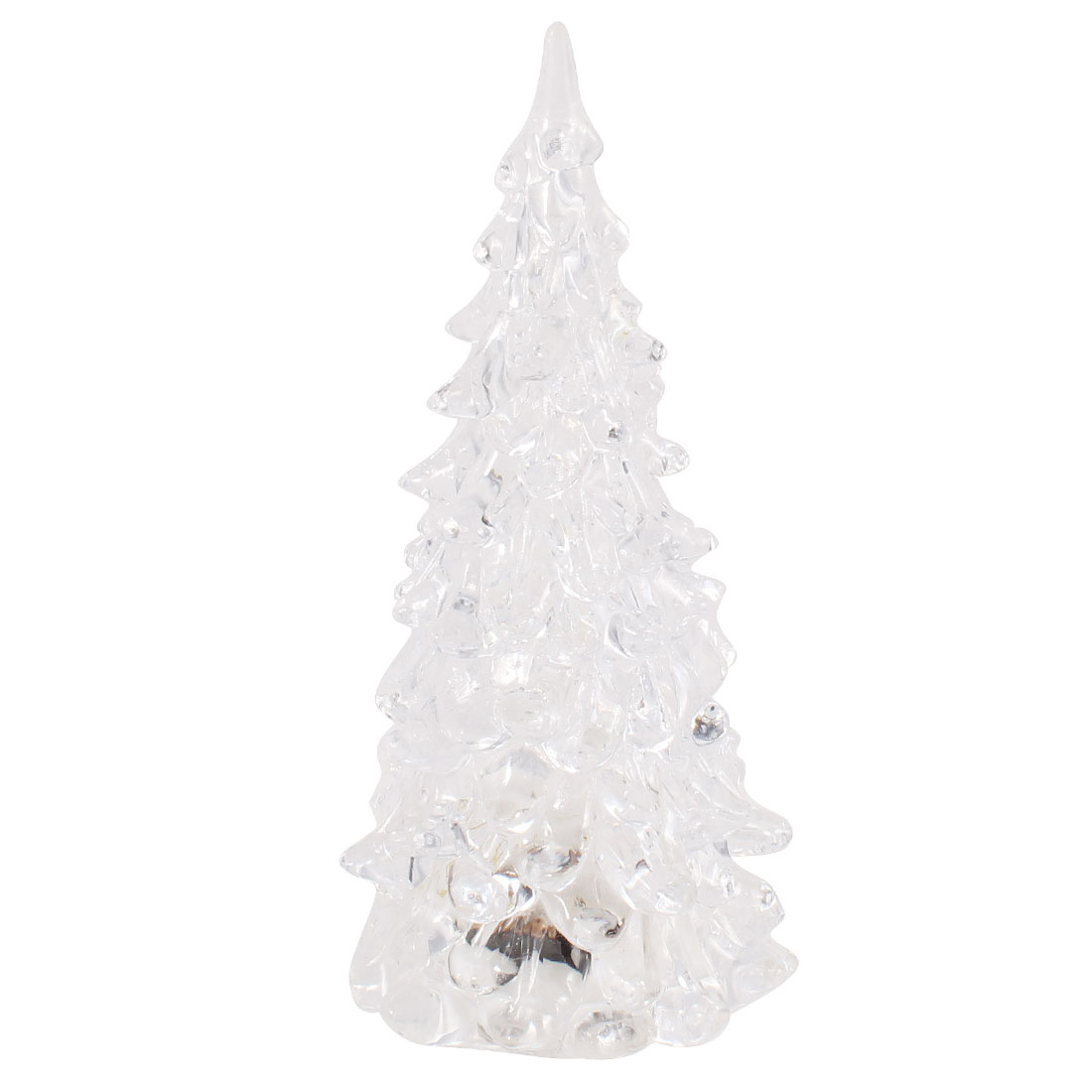 Clear Plastic Christmas Tree Shape Colorful Changing Night Light LED Lamp