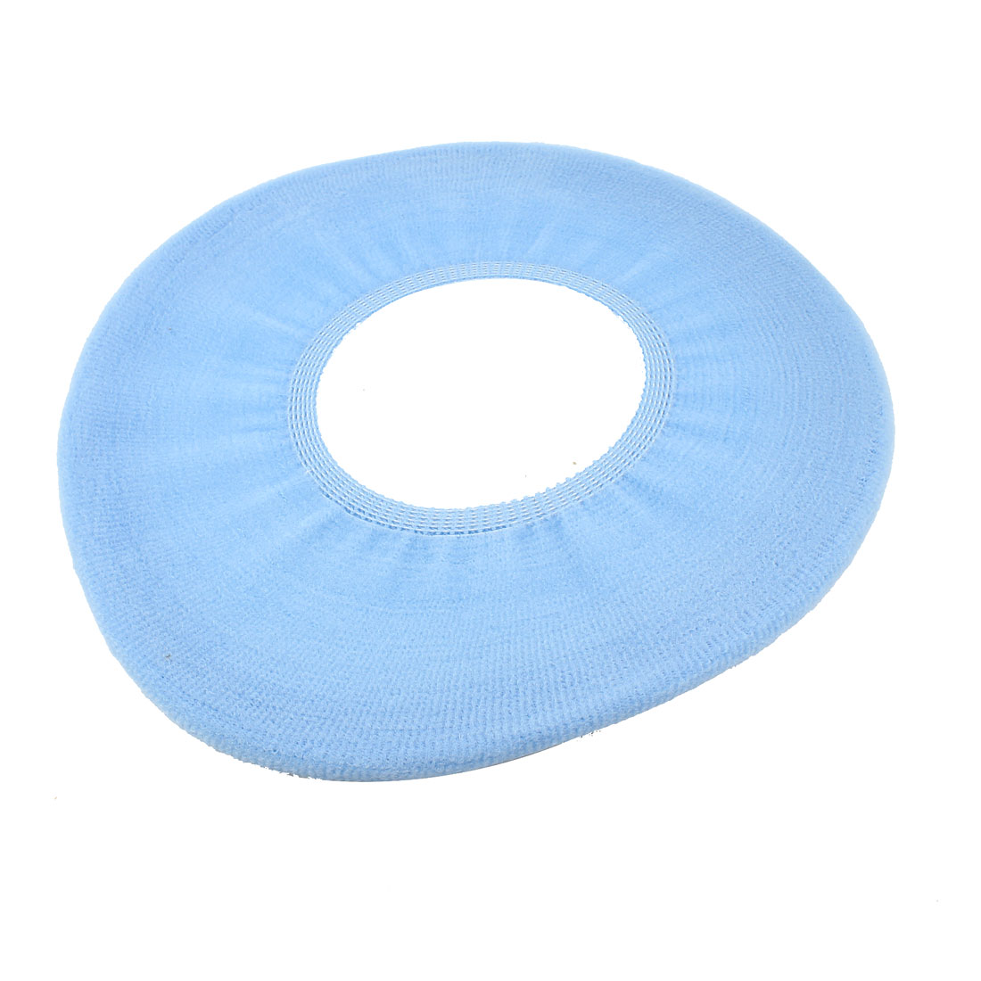 Light Blue Round Shaped Closestool Toilet Seat Lid Cover Warmer Pad Mats
