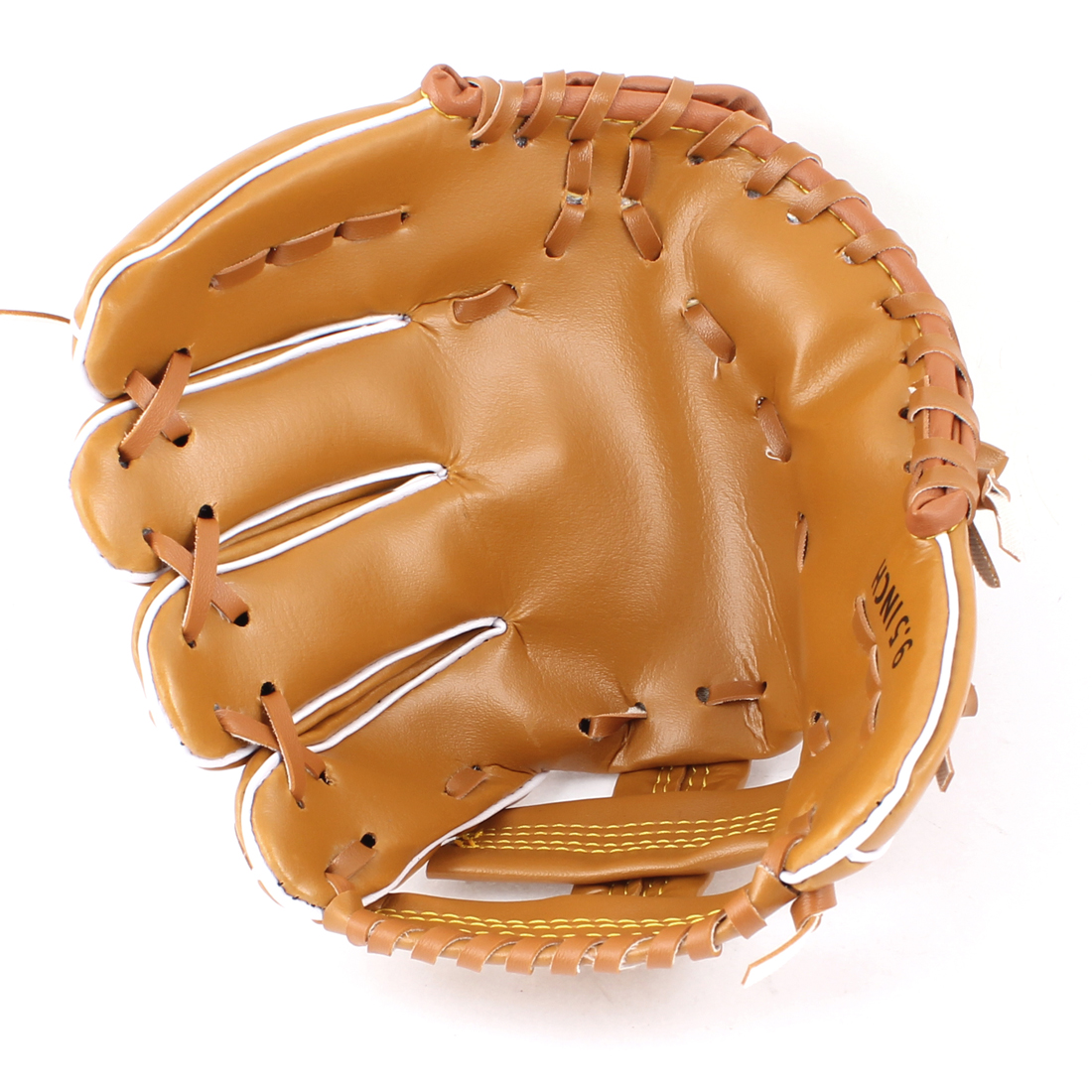 "Brown 9.5"" Height Faux Leather Left Hand Baseball Softball Glove"