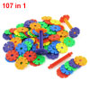 Educational DIY Puzzle Snowflake Building Blocks Toy 107 in 1