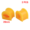 2pcs Yellow Rubber Car Front Sway Bar Mount Bush 25mm for Toyota