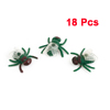 18 Pcs Plastic Artificial Flies Life Like Fly Bug Joke Trick Toy Red Green Clear