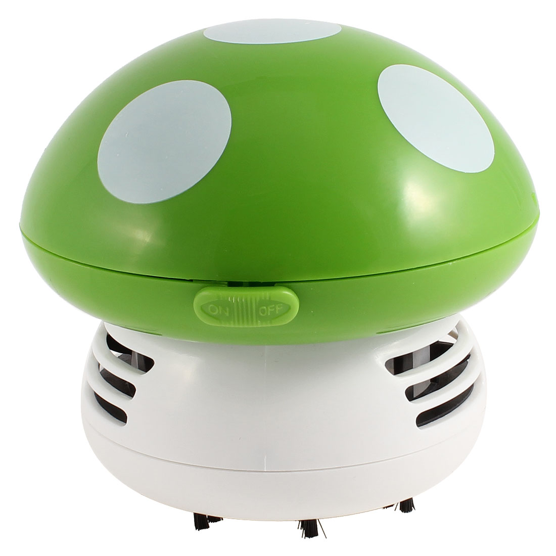Home Plastic Mushroom Design Mini Desk Vacuum Dust Collector White Green