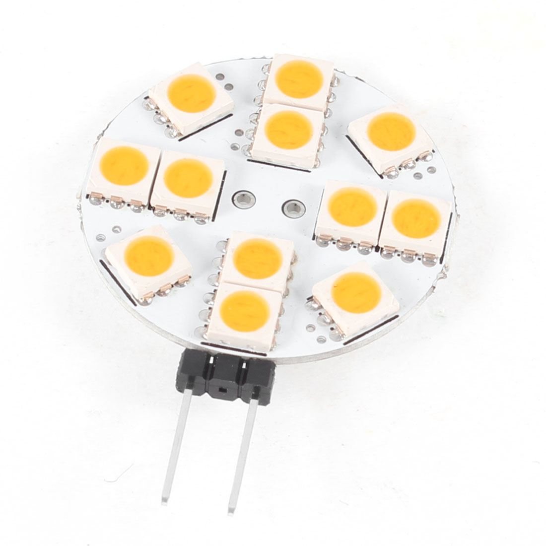 Car Sdie Pin G4 Warm White 5050 SMD 12 LED Bulb Light Lamp