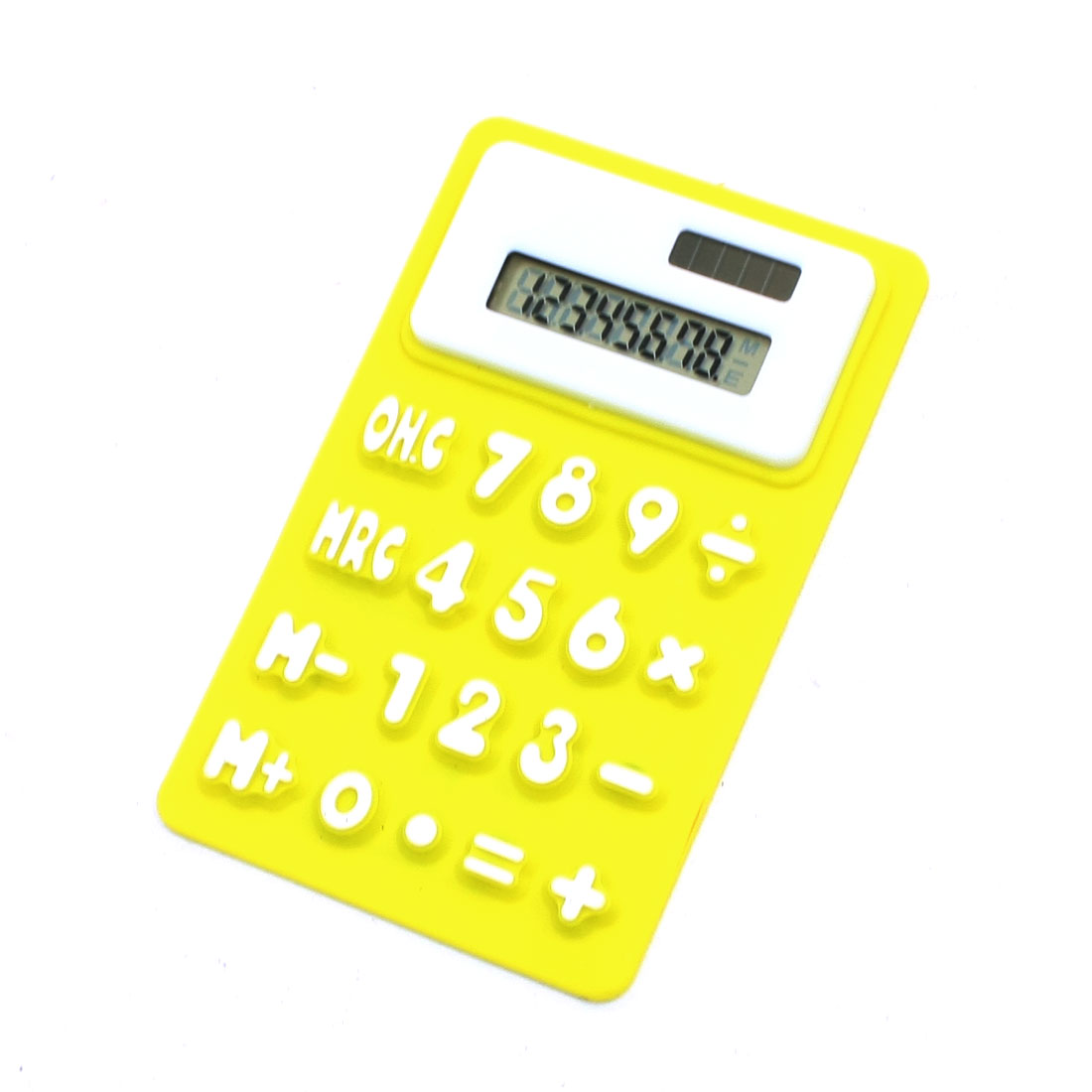 """4.1"""" Long Yellow White Soft Silicone 8 Digits Calculator for"""