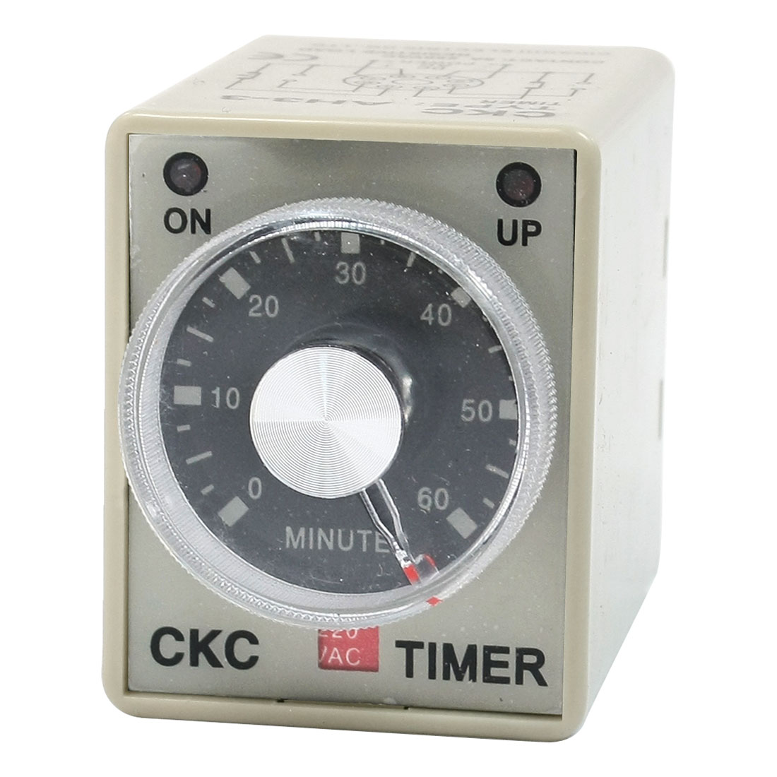 DPDT 8P DIN Rail 0-60M Timer Power on Time Timing Relay AC 220V AH3-3