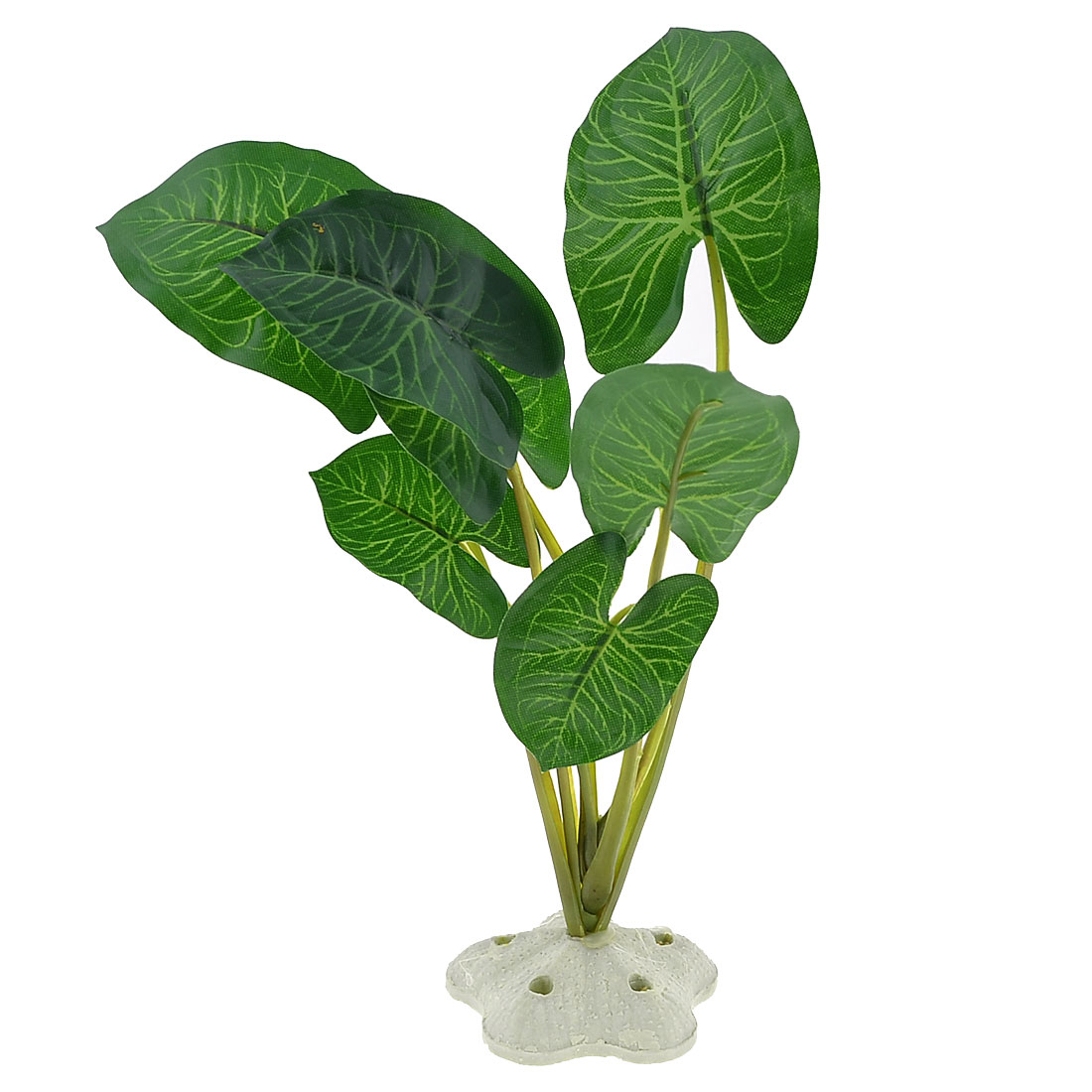 "Fish Tank Aquarium Decorative Emulational Plastic Green Leaf Plant 7.9"" Height"