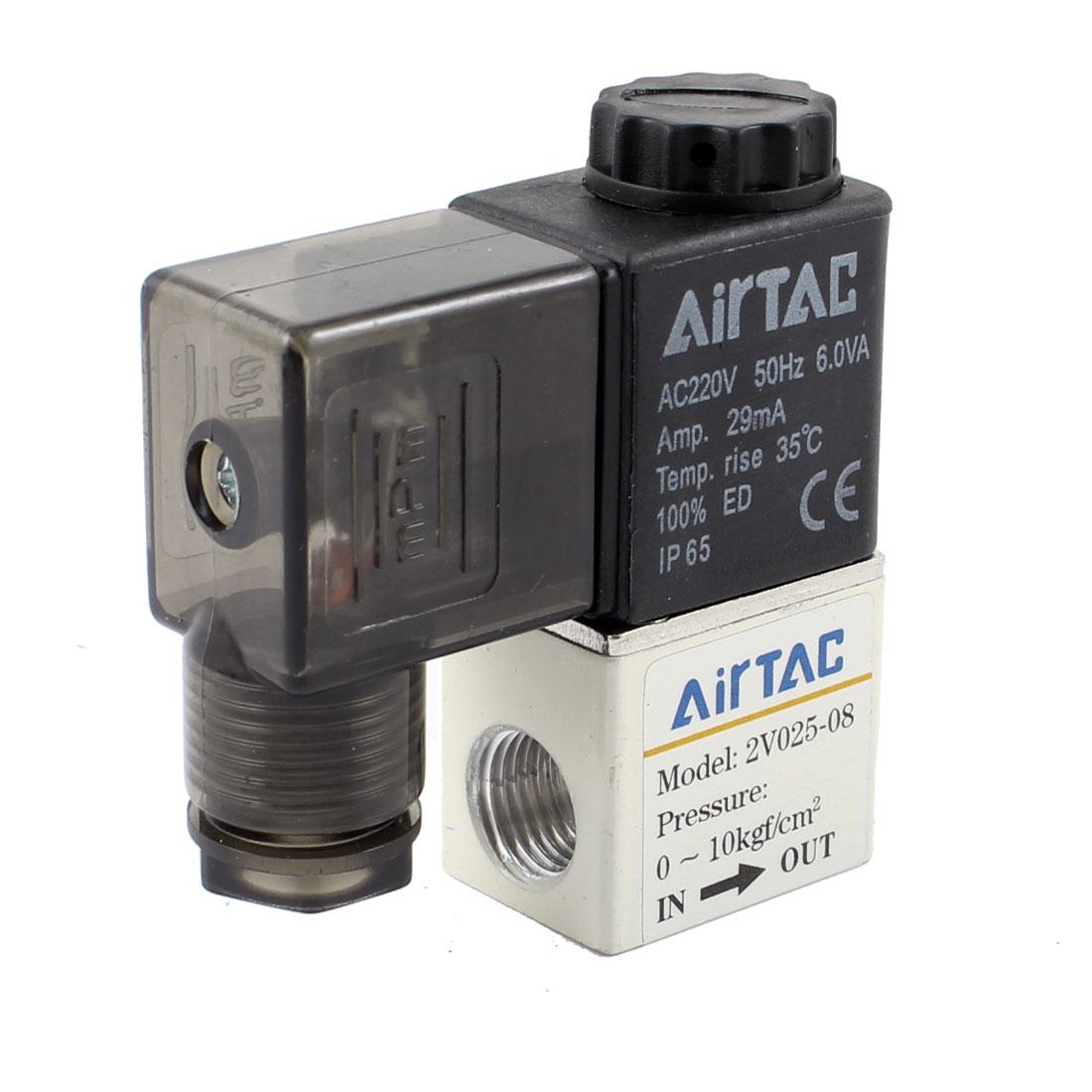 Black Electrical Pneumatic Control Air Solenoid Valve Coil AC220V 50HZ 6VA